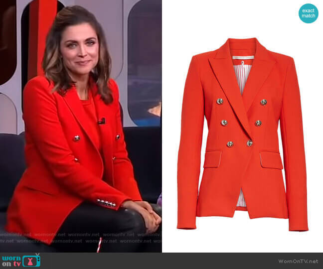 Miller Jacket by Veronica Beard worn by Paula Faris  on Good Morning America