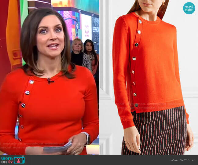 'Minamoto' Sweater by Altuzarra worn by Paula Faris  on Good Morning America