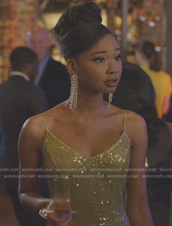Monica's sequin dress on Dynasty