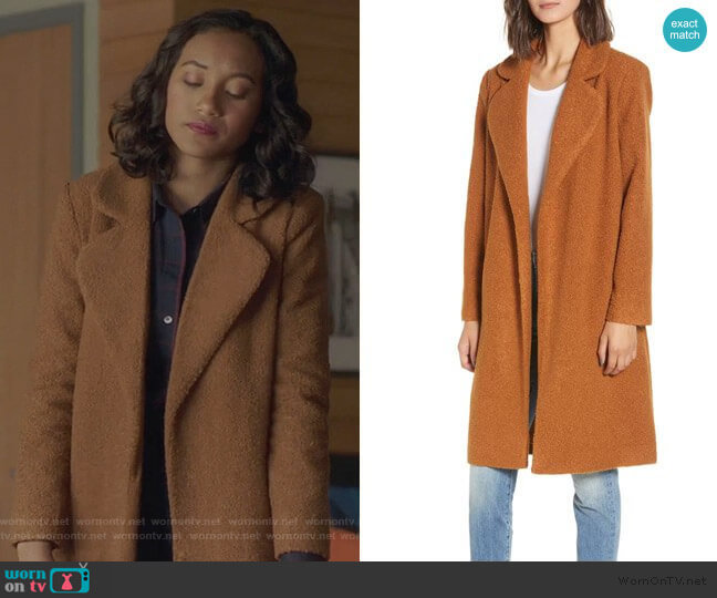Mural Teddy Bear Coat worn by Caitlin Martell-Lewis (Sydney Park) on PLL The Perfectionists