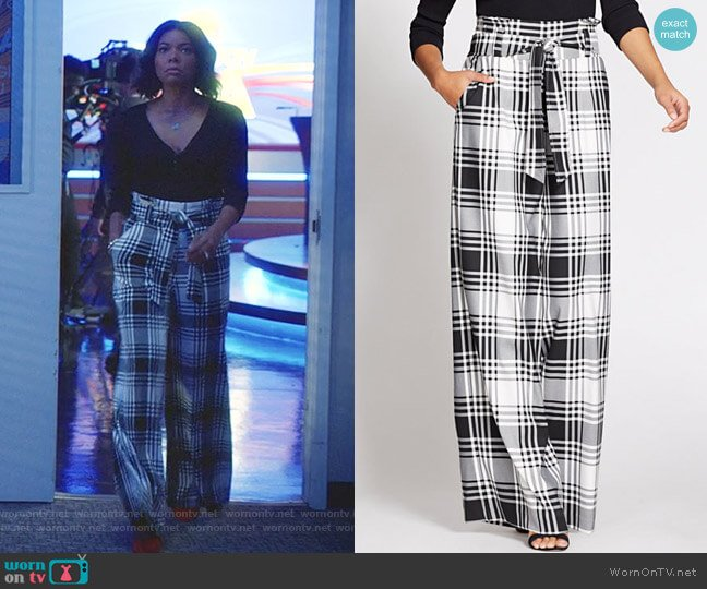 Paperbag Waist Pant  - Gabrielle Union Collection by New York & Company worn by Mary Jane Paul (Gabrielle Union) on Being Mary Jane