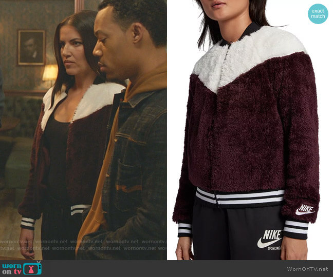 Nike Color-Block Fleece Bomber Jacket worn by Martyna  Marek (Marika Dominczyk) on Whiskey Cavalier