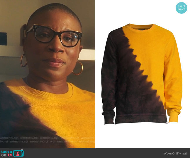 Two-Tone Tie Dye Sweatshirt by PRPS worn by Henrietta Wilson (Aisha Hinds) on 9-1-1