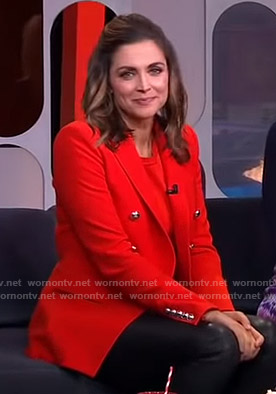 Paula's red blazer on GMA Strahan And Sara