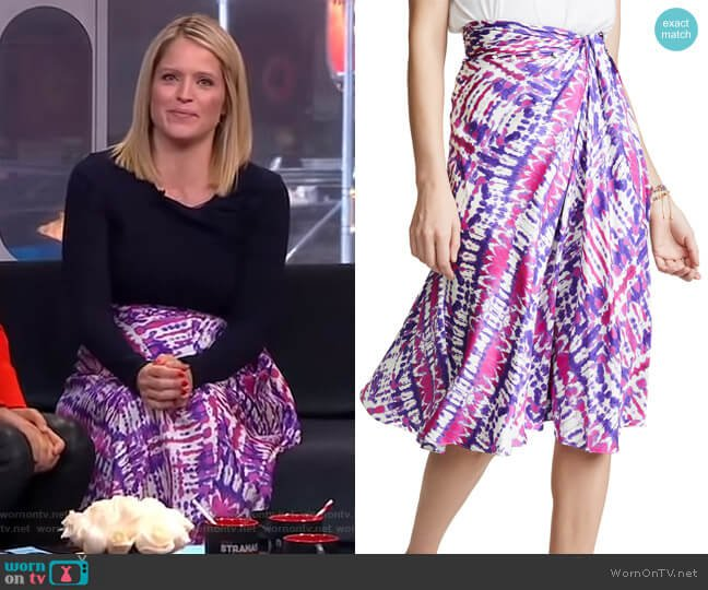 Sarong Skirt by Prabal Gurung worn by Sara Haines  on Good Morning America