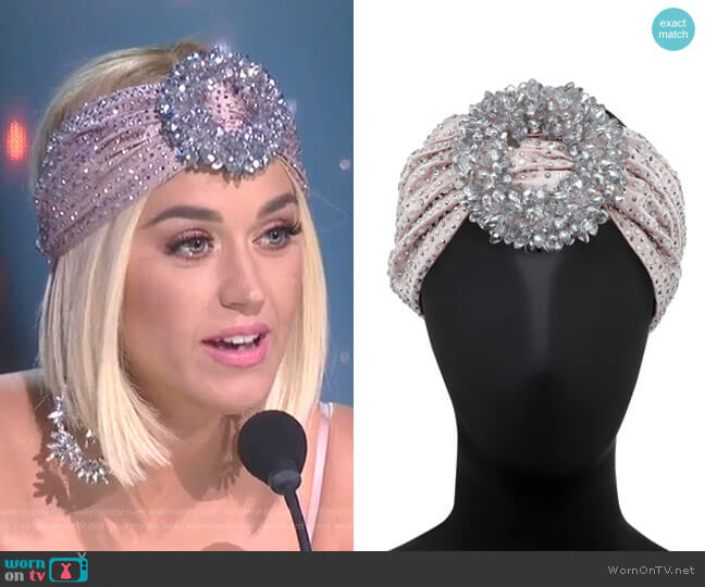 Crystal Embellished Head piece by Raisa & Vanessa worn by Katy Perry  on American Idol