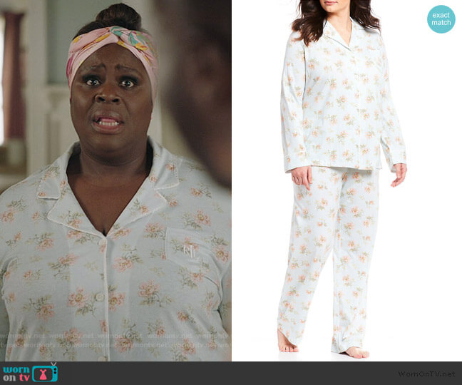 Floral Print Pajamas by Ralph Lauren worn by Ruby Hill (Retta) on Good Girls