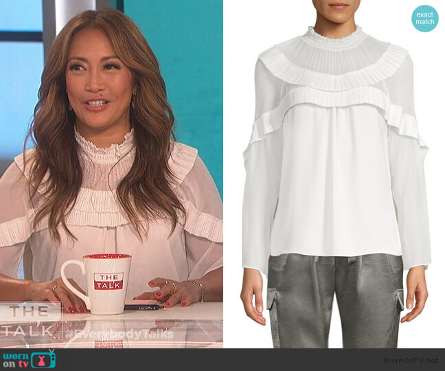 Blake Top by Ramy Brook worn by Carrie Inaba  on The Talk