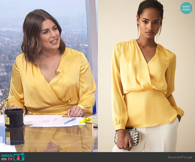 Miranda Blouse by Reiss worn by Carissa Loethen Culiner (Carissa Loethen Culiner) on E! News