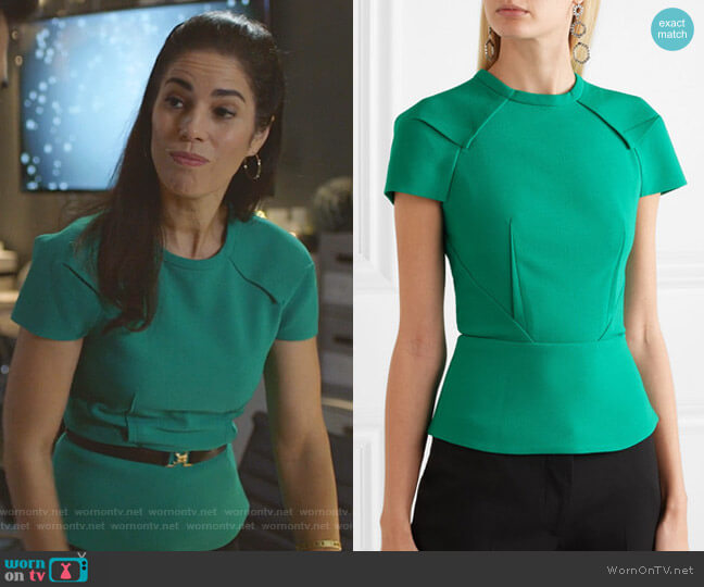 Cymatia Top by Roland Mouret worn by Susan Sampson (Ana Ortiz) on Whiskey Cavalier