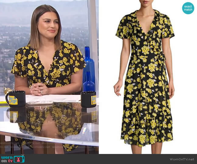 Ruffled Floral Midi Wrap Dress by MICHAEL Michael Kors worn by Carissa Loethen Culiner  on E! News