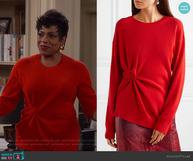Brynn Sweater by Sies Marjan worn by Rose (Sheryl Lee Ralph) on Fam