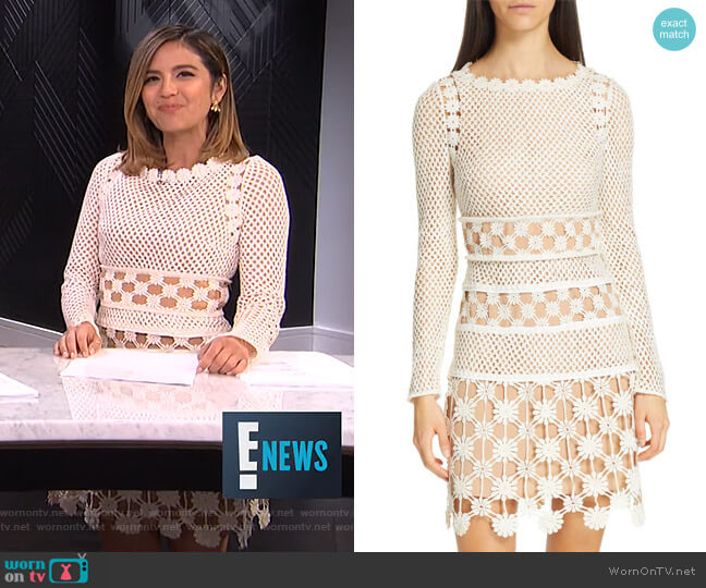 Wornontv Erins White Crochet Dress On E News Erin Lim Clothes