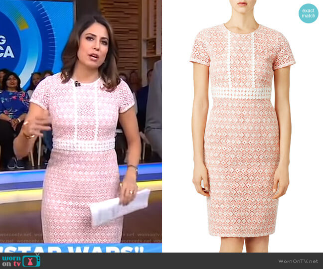 Stacie Dress by Shoshanna worn by Cecilia Vega  on Good Morning America