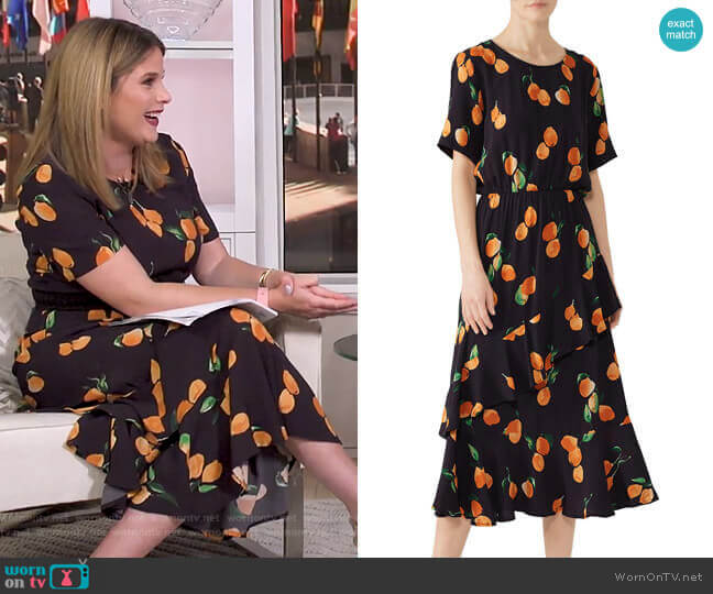 Sine Dress by Just Female worn by Jenna Bush Hager  on Today
