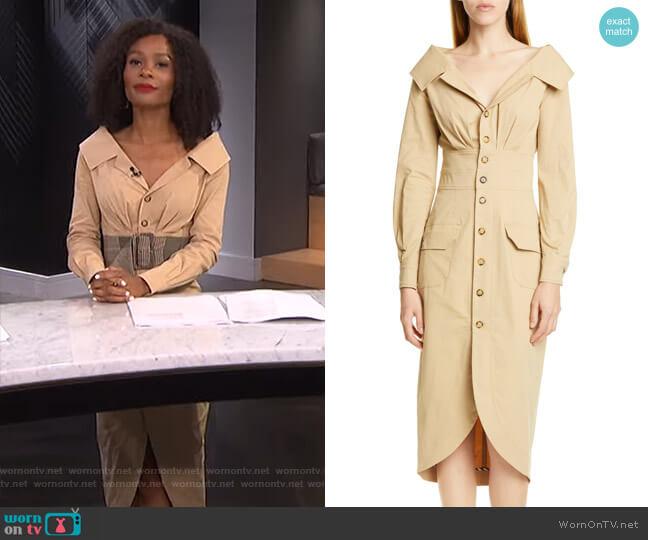 Jack Shirtdress by Staud worn by Zuri Hall  on E! News