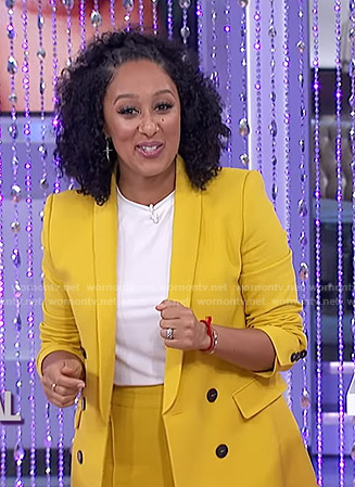 Tamera's yellow suit on The Real