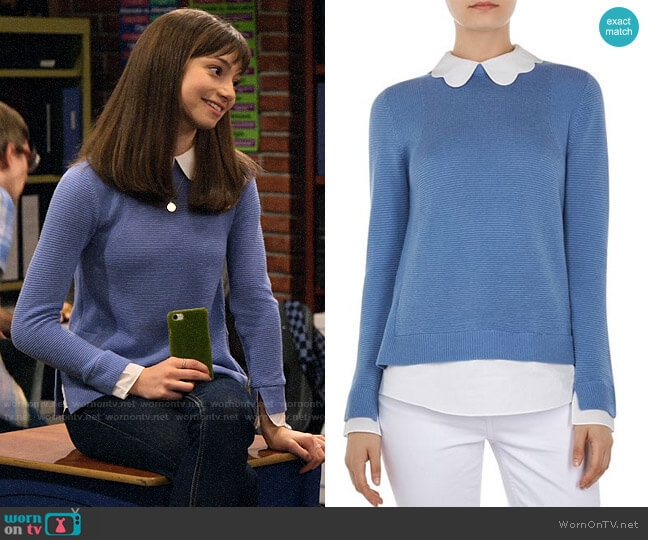 Ted Baker Bronwen Layered-Look Sweater  worn by Molly (Lauren Lindsey Donzis) on No Good Nick