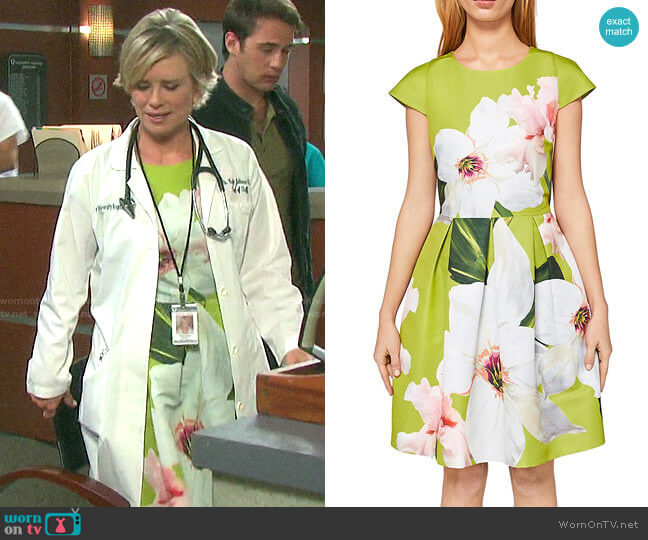 Ted Baker Lynetta Chatsworth Bloom Skater Dress worn by Kayla Brady (Mary Beth Evans) on Days of our Lives