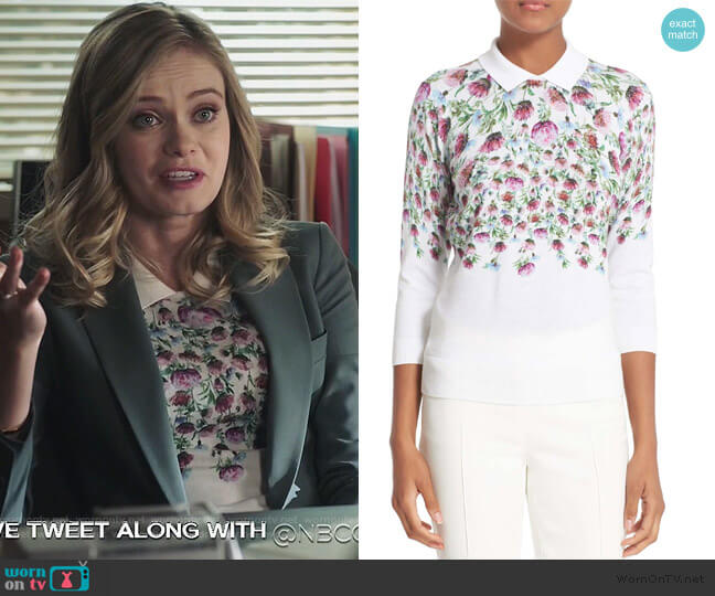 Karn Sweater by Ted Baker worn by Sara Paxton on Good Girls
