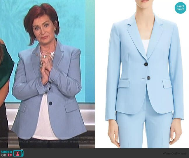 Carissa Classic Blazer by Theory worn by Sharon Osbourne  on The Talk