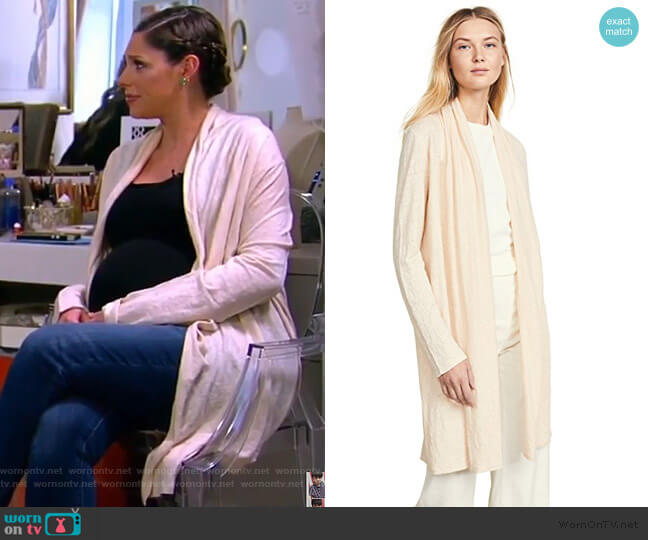 Shawl Cardigan by Theory worn by Abby Huntsman  on The View