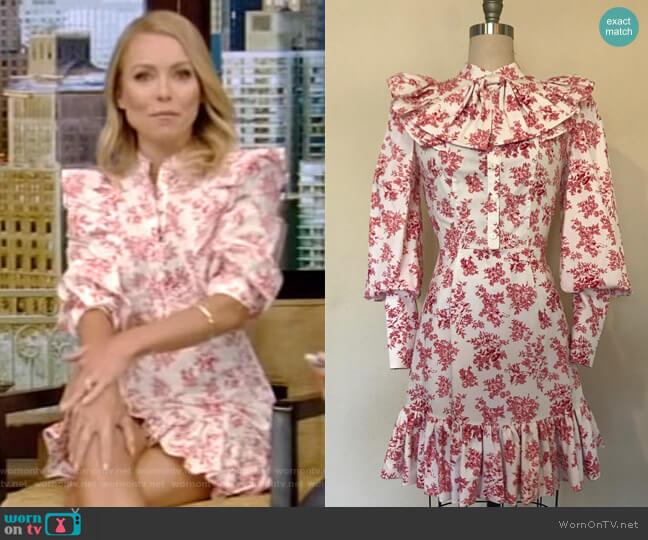 Bon Bon Dress by Tracy Feith worn by Kelly Ripa (Kelly Ripa) on Live with Kelly & Ryan