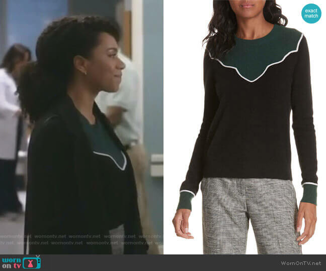 Atty Cashmere Sweater by Veronica Beard worn by Maggie Pierce (Kelly McCreary) on Greys Anatomy