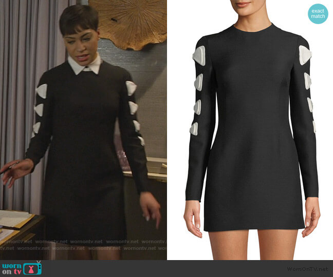 Crewneck Long-Sleeve Fitted Dress w/ Bow Detail by Valentino worn by Lucca Quinn (Cush Jumbo) on The Good Fight