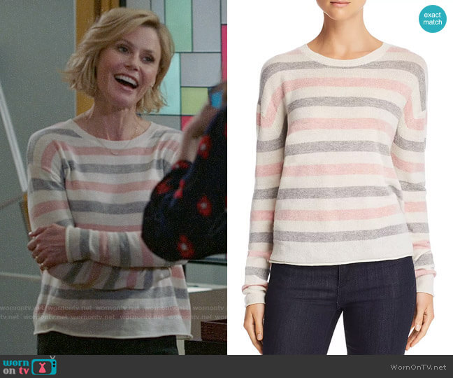 Velvet by Graham & Spencer Striped Crewneck Sweater worn by Claire Dunphy (Julie Bowen) on Modern Family