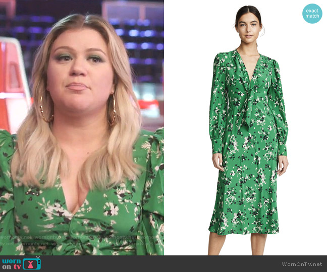 Amber Dress by Veronica Beard worn by Kelly Clarkson  on The Voice