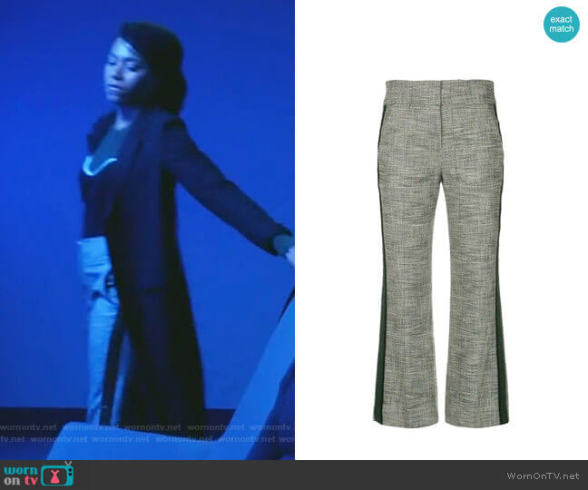 Cormac Trousers by Veronica Beard worn by Maggie Pierce (Kelly McCreary) on Greys Anatomy