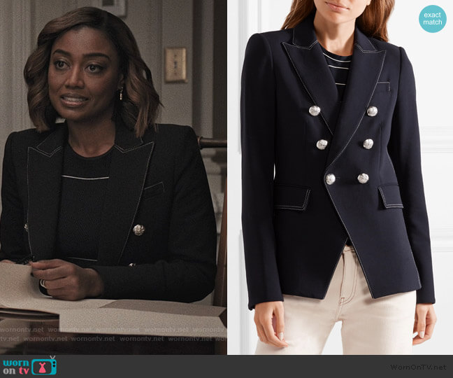 Miller crepe blazer by Veronica Beard worn by Daisy Grant (Patina Miller) on Madam Secretary