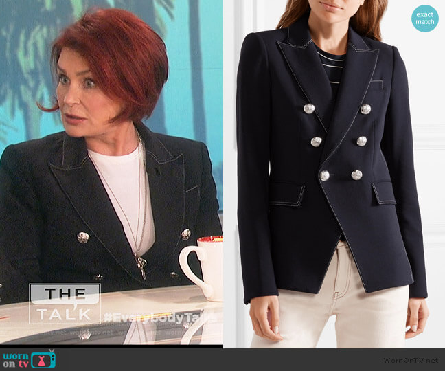 Miller crepe blazer by Veronica Beard worn by Sharon Osbourne  on The Talk