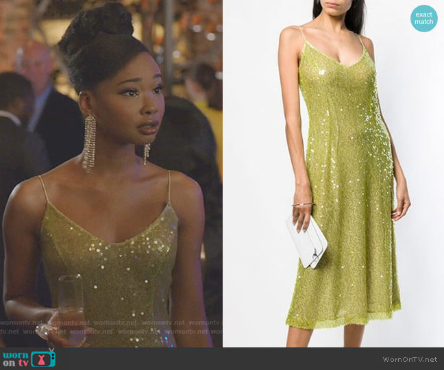 Sequins Embellished Dress by Walk of Shame worn by Monica Colby (Wakeema Hollis) on Dynasty