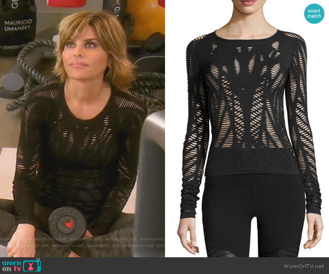 Wanderer Long Sleeve Top by Alo Yoga worn by Lisa Rinna  on The Real Housewives of Beverly Hills