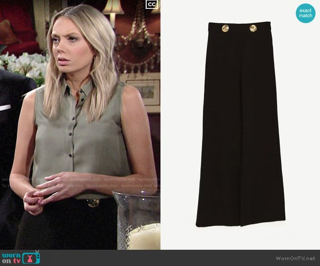 Zara Flowing Trousers worn by Abby Newman (Melissa Ordway) on The Young & the Restless