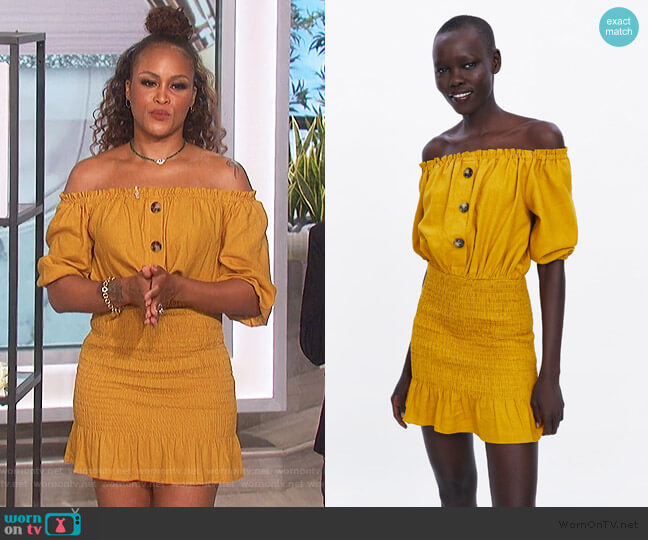 Rustic Dress by Zara worn by Eve  on The Talk