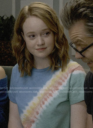 Abby's tie dye tee on Santa Clarita Diet