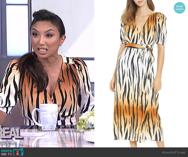 Amal Maxi Dress by AFRM worn by Jeannie Mai (Jeannie Mai) on The Real