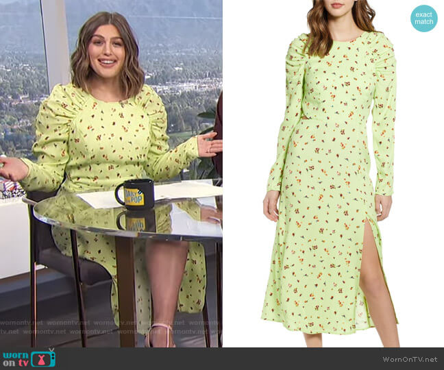 Kiah Lattice Back Midi Dress by AFRM worn by Carissa Loethen Culiner  on E! News