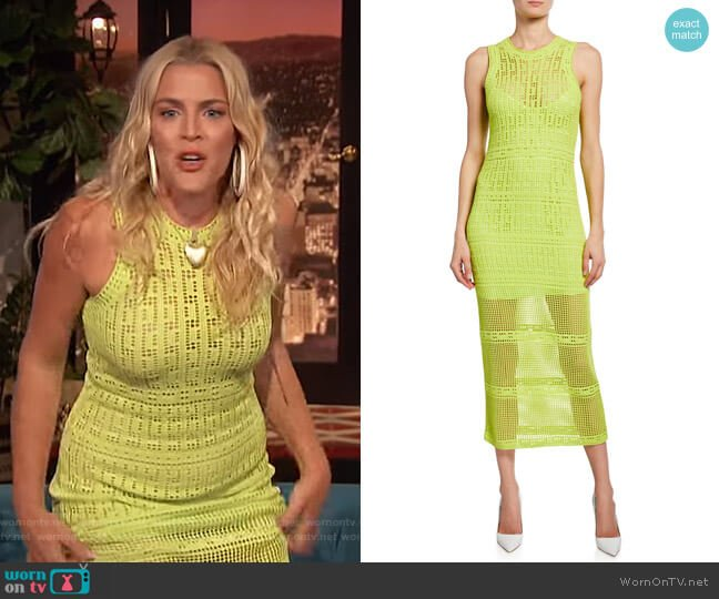 Monaghan Dress by A.L.C. worn by Busy Philipps  on Busy Tonight