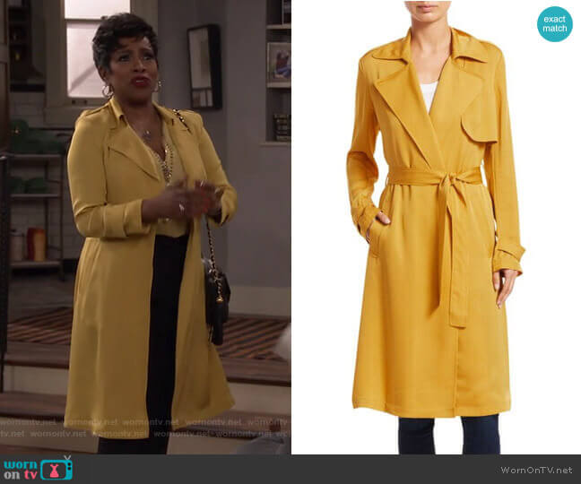Oaklane Trench Coat by Theory worn by Rose (Sheryl Lee Ralph) on Fam