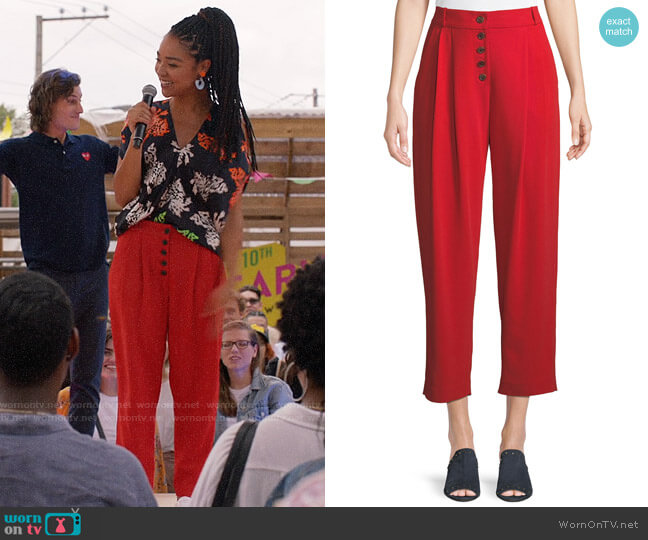 A.L.C Russel Pants worn by Kat Edison (Aisha Dee) on The Bold Type