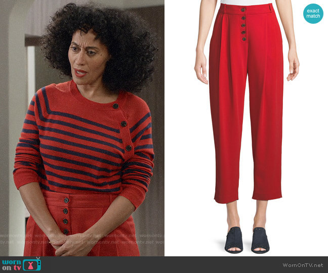 ALC Russel Pants worn by Rainbow Johnson (Tracee Ellis Ross) on Blackish