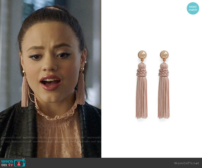 Aldo Baerien Earrings worn by Maggie Vera (Sarah Jeffery) on Charmed