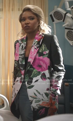 Alex's floral print jacket on Star