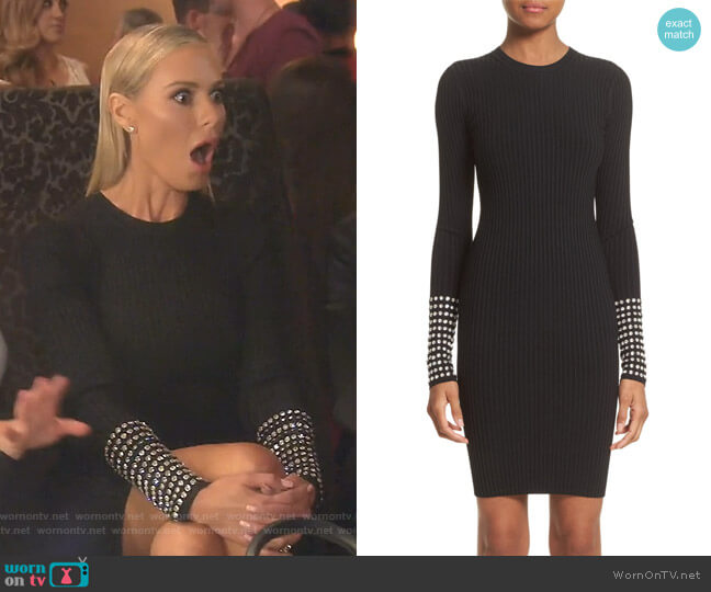 Crystal Cuff Rib Knit Dress by Alexander Wang worn by Dorit Kemsley (Dorit Kemsley) on The Real Housewives of Beverly Hills