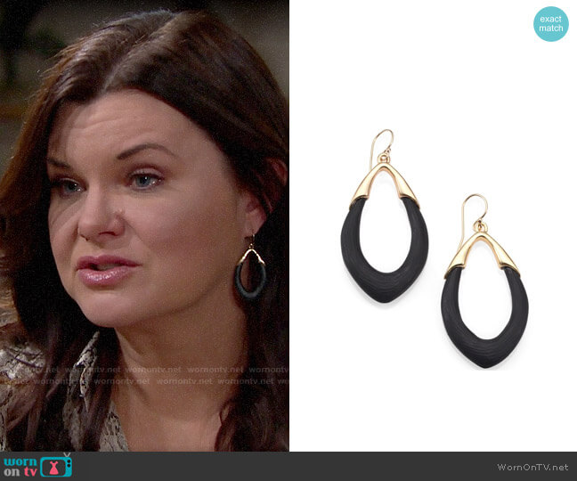 Alexis Bittar Lucite Orbit Link Drop Earrings worn by Katie Logan (Heather Tom) on The Bold & the Beautiful