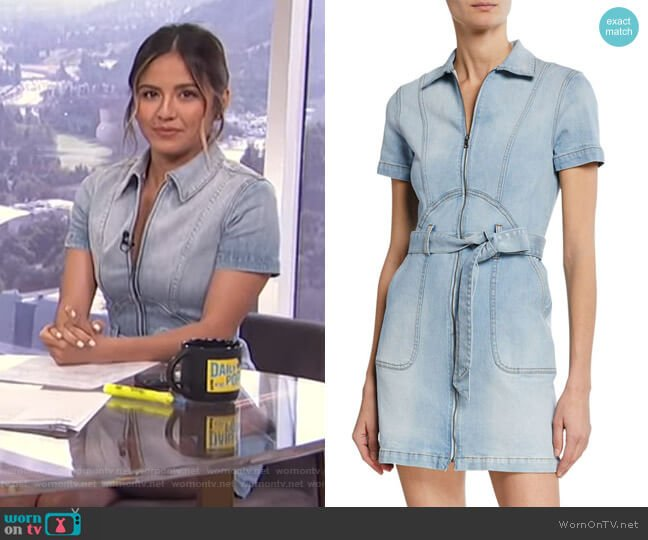 Gorgeous Zip-Up Mini Dress by Alice + Olivia worn by Erin Lim  on E! News